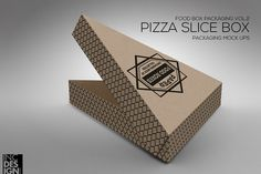 Pizza Slice Box Packaging MockUp by INC Design on @creativemarket