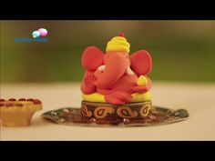 How to make a Green Ganesh idol from clay - YouTube