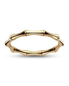 18K Gold Bamboo Cuff Bracelet