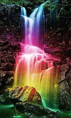 Colorful Waterfall Square Diamond Painting You are in the right place about Rainbow illustration Here we offer you the most beautiful pictures about the Rainbow paper you are looking for. When you examine the Colorful Waterfall Square Diamond Painting … Nature Pictures, Cool Pictures, Beautiful Pictures, Colorful Pictures, Beautiful Nature Wallpaper, Beautiful Landscapes, Rainbow Waterfall, Image Nature, Rainbow Aesthetic