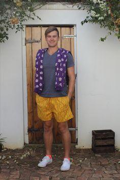 Yellow Shweshwe shorts
