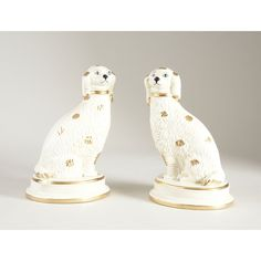 The Well Appointed House Pair of Ceramic King Charles Cavalier Spaniels Spaniel Dog, Spaniels, Staffordshire Dog, House Lamp, House 2, Ceramic Decor, Luxury Home Decor, Hand Painted Ceramics, Cavalier King Charles