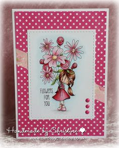 Handmade by Christine: Some Flowers for You! Card Making Inspiration, Making Ideas, Tiddly Inks, Birthday Cards For Women, Flowers For You, Friendship Cards, Ink Stamps, Textiles, Tampons