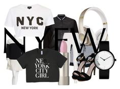 """""""NY Style"""" by fluffulamb ❤ liked on Polyvore featuring rag & bone, Kate Spade, adidas, Donna Karan, Beats by Dr. Dre and Topshop"""