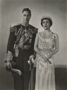 the-british-royal-family: King George VI and Queen Elizabeth, the Queen Mother, January 1937.