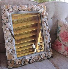 DIY & Crafts: How to Make a Gorgeous, Beach-Inspired Driftwood & Seashell Mirror Frame!
