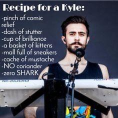 Recipe for Kyle. And a dash of really sexy facial hair.