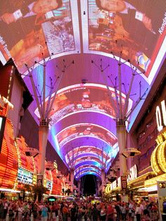 Fremont Street, Las Vegas - I'd like to get back here one day and play some bingo in Grandma's memory!!!