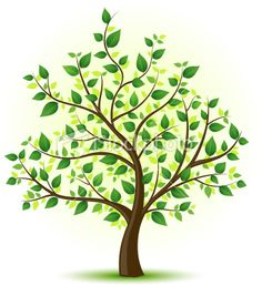 illustration of a tree with green leaves. Family Tree Drawing, Family Tree Art, Green Trees, Green Leaves, Tree Illustration, Illustrations, Tree Images, Plantation, Free Vector Art
