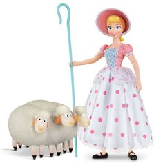 This item is Disney Pixar Toy Story 4 Signature Collection Bo Peep & Sheep. her trusty sheep Billy, Goat and Gruff with possable heads. Disney Pixar, Disney Toys, Walt Disney, Disney Art, Toy Story Birthday, Toy Story Party, Barbie Toys, Doll Toys, Little Bo Peep Costume