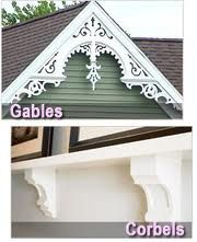 Exterior Gable Trim simple decorative gable trim - 135 - gb822   late victorian
