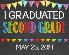 Last Day of School Chalkboard Poster // 2nd Grade // Second Grade // Graduation by PersonalizedChalk on Etsy, $10.00