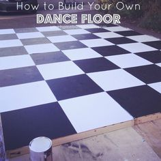 HOW TO BUILD A DANCE FLOOR~ great for weddings, special events, holidays and parties outside or in a tent, barn, etc.