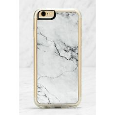 Zero Gravity Stoned Marble iPhone 6 and 6s Case ($24) ❤ liked on Polyvore featuring accessories, tech accessories, white and zero gravity