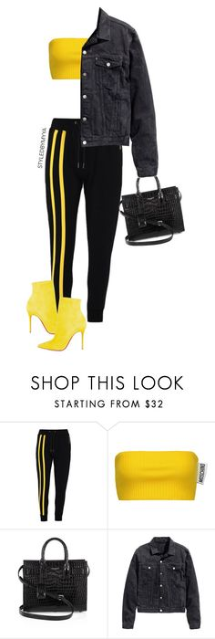 """""""KILL BILL"""" by my-ya ❤ liked on Polyvore featuring Moschino, Yves Saint Laurent, H&M and Christian Louboutin"""