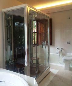 Cabine de Banho com Sauna OSLO da Unique SPA (www.uniquespa.com.br)