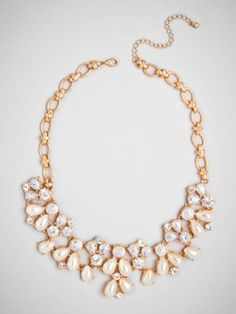 our pearl vine collar makes a beautiful statement #BBweddings #stylemepretty