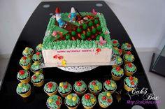 Smurfs cake - farm 2
