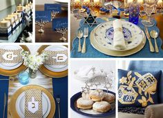Festival of Lights #sse #soniasharmaevents #sseblog #trendscouting #event  #eventdesign #inspiration #hanukkah #holiday #blue #gold #party #celebrate #food