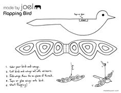 Flapping Paper Bird Toy - Made by Joel