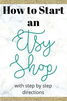 How to start an Etsy shop with easy step-by-step directions. Learn  how to get started from an experienced Etsy shop seller with close to 50,000 sales.