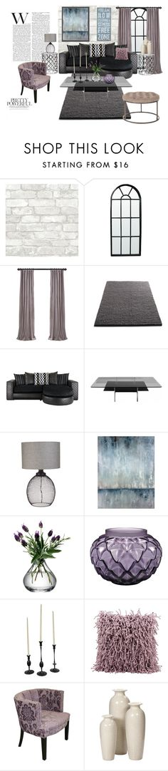 """Black and Violet"" by eve4ever ❤ liked on Polyvore featuring interior, interiors, interior design, home, home decor, interior decorating, Noir, Blu Dot, Leftbank Art and LSA International"