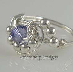 Wire Wrapped Ring Sterling Silver by SerendipDesignsJewel on Etsy