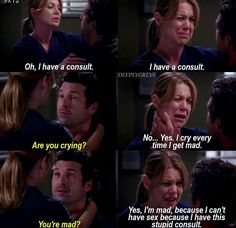 Ha the pregnancy hormones were the best Greys Anatomy Episodes, Greys Anatomy Funny, Grey Anatomy Quotes, Grays Anatomy, Anatomy Humor, Meredith Grey, Grey's Anatomy Wallpaper, Movie Quotes, Funny Quotes