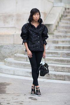 Street Style: Paris Fashion Week Spring 2014 prada shoes
