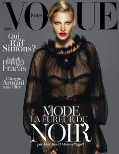 Lara Stone covers the Vogue Paris September issue {2012}
