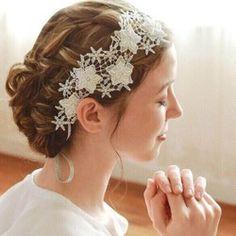 ヘッドドレス〈Lace blossom Style201〉|ヘッドドレス・ドレス|ハンドメイド・手仕事品の販売・購入 Creema(クリーマ)