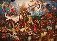 The Fall of the Rebel Angels  by Pieter Brueghel the Elder