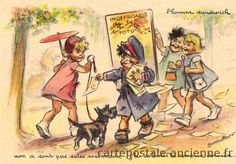 Vintage postcard: Germaine Bouret
