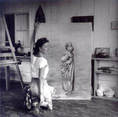 """Dorothea Tanning, Sedona (Arizona) 1946 -by Lee Miller  from: Patricia Allmer (ed.), """"Angels of Anarchy - Women Artists and Surrealism"""" (Prestel, 2009)"""