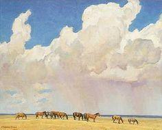 'Prairie Shower', by Maynard Dixon.