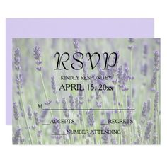 Lavender Blooms Floral Wedding RSVP Card - floral style flower flowers stylish diy personalize