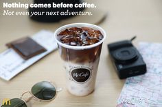 Before you head out on your next adventure, grab a McCafé beverage from our whole new McCafé espresso menu at participating McDonald's. Grab a Caramel Macchiato, Mocha, Cappuccino or Americano, before hitting the open road. Because nothing comes before coffee.