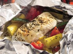 Grilled Lemon Pepper Halibut and Squash Packs - WOW my mouth is watering for some grilled halibut!!