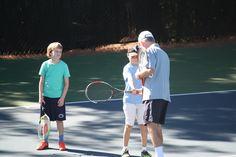 Children's tennis lessons at LCFCC// La Cañada Flintridge Country Club