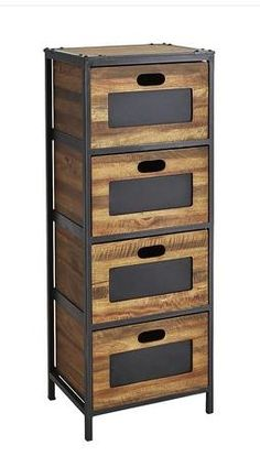 cool A Tall Chest That Stands Before You With Handy Chalkboard Labels
