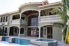 Luxury Florida style home. Plan# 107-1011.