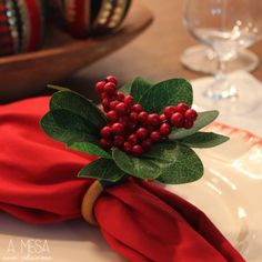christmas table setting - napkin ring