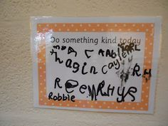 Foundation Stage Two Blog - Do something kind. Encouraging positive relationships.
