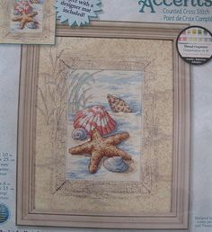 Shells in the Sand Cross Stitch Kit Sealed by RetroExchange