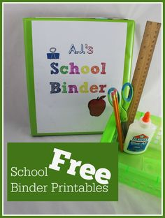 FREE School binder printables! Great way to stay organized!
