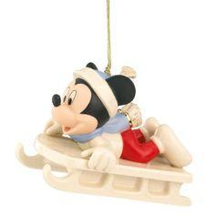 Lenox Mickey's Sledding Adventure, Christmas Ornament: Home & Kitchen