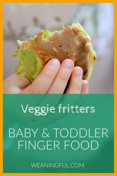 Trying to include more veggies into your little one's diet? These fritters are easy to make with almost any vegetable you have in the kitchen. They are quick and easy for baby to hold if they're just starting solids, or a great lunchbox option for older kids. Healthy Baby Food, Healthy Meals For Kids, Meals For One, Healthy Desserts, Kids Meals, Baby Meals, Healthy Recipes, Baby First Foods, Baby Finger Foods