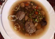 Vajas-fűszeres májgombóc Beans, Soup, Vegetables, Vegetable Recipes, Soups, Beans Recipes, Veggies