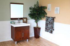 31.5 in Single sink vanity-wood-walnut