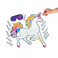 Fun Express Pin The Horn On The Unicorn Party Game